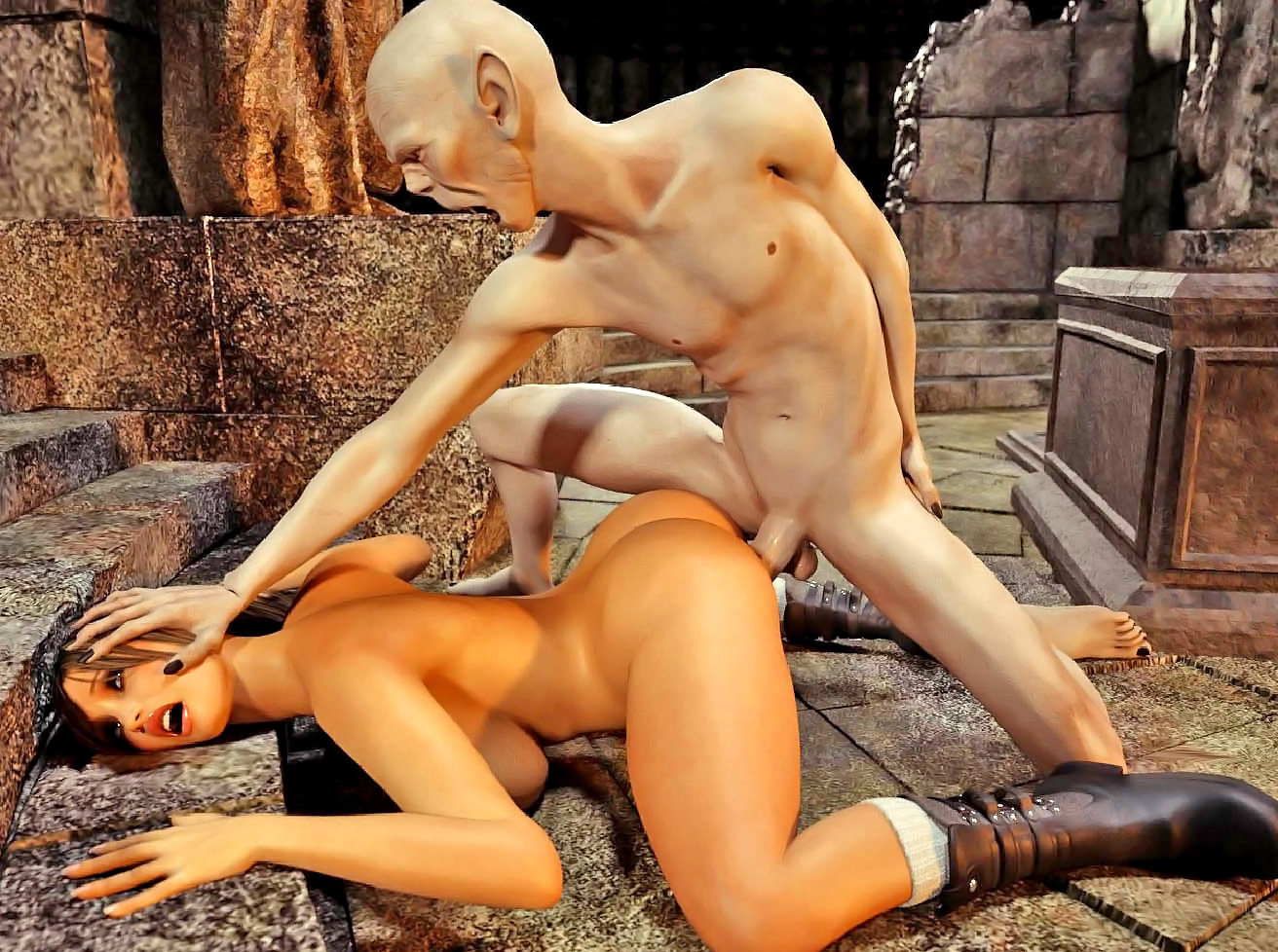 Tomb raider vs monster erotic 3d sex image