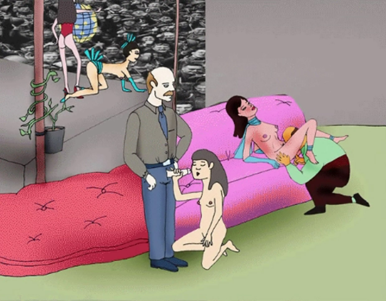 Image of hot naked cartoon girls having  sex pictures