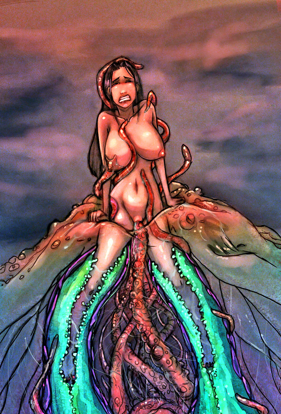 Girl with sea monster sex fucking pic