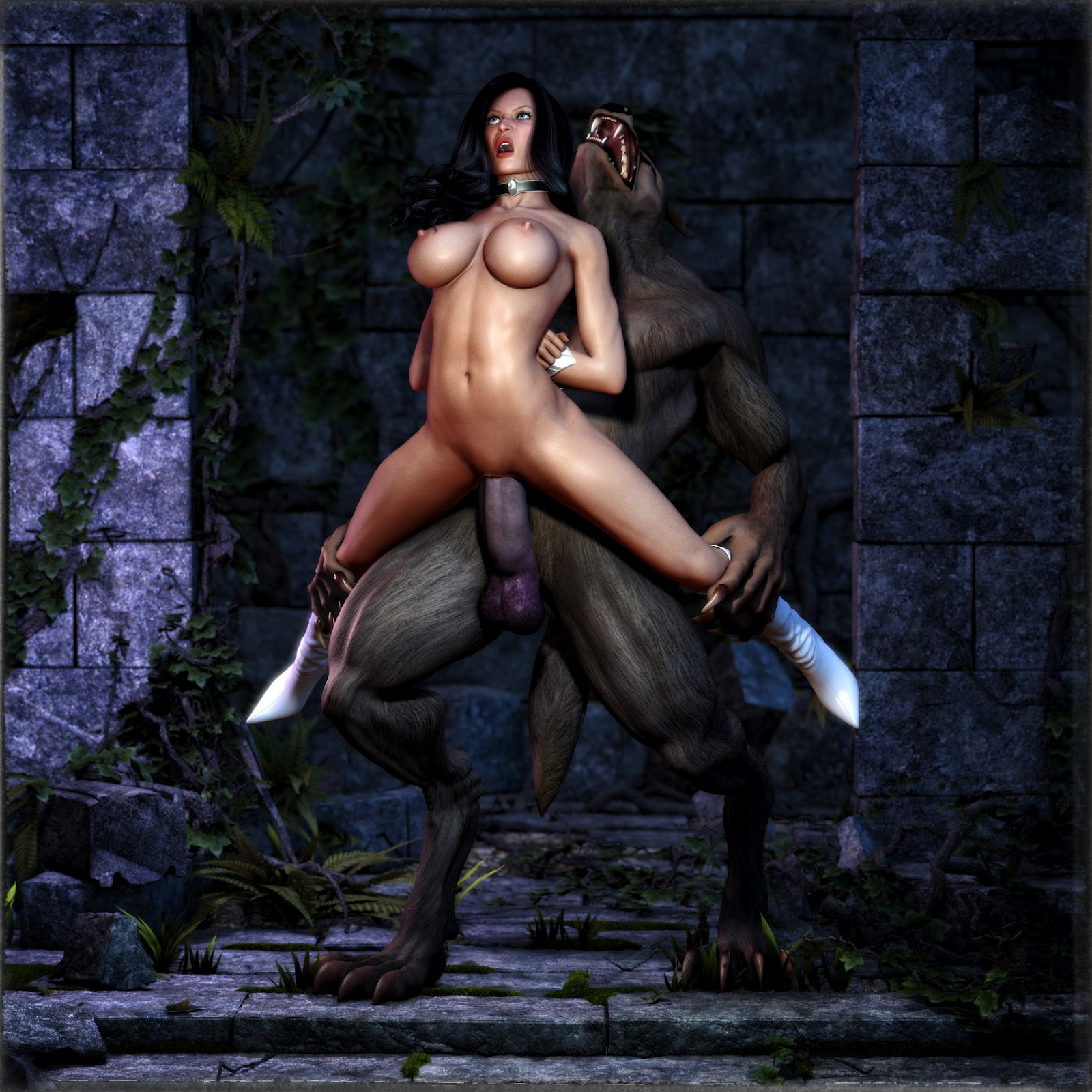 Human male and female werewolf porn porno tube
