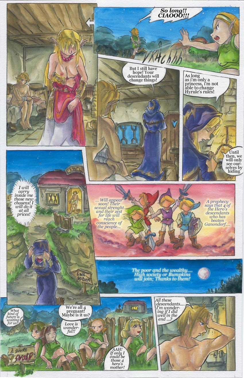 Legend of zelda skyward sword hentai comic are