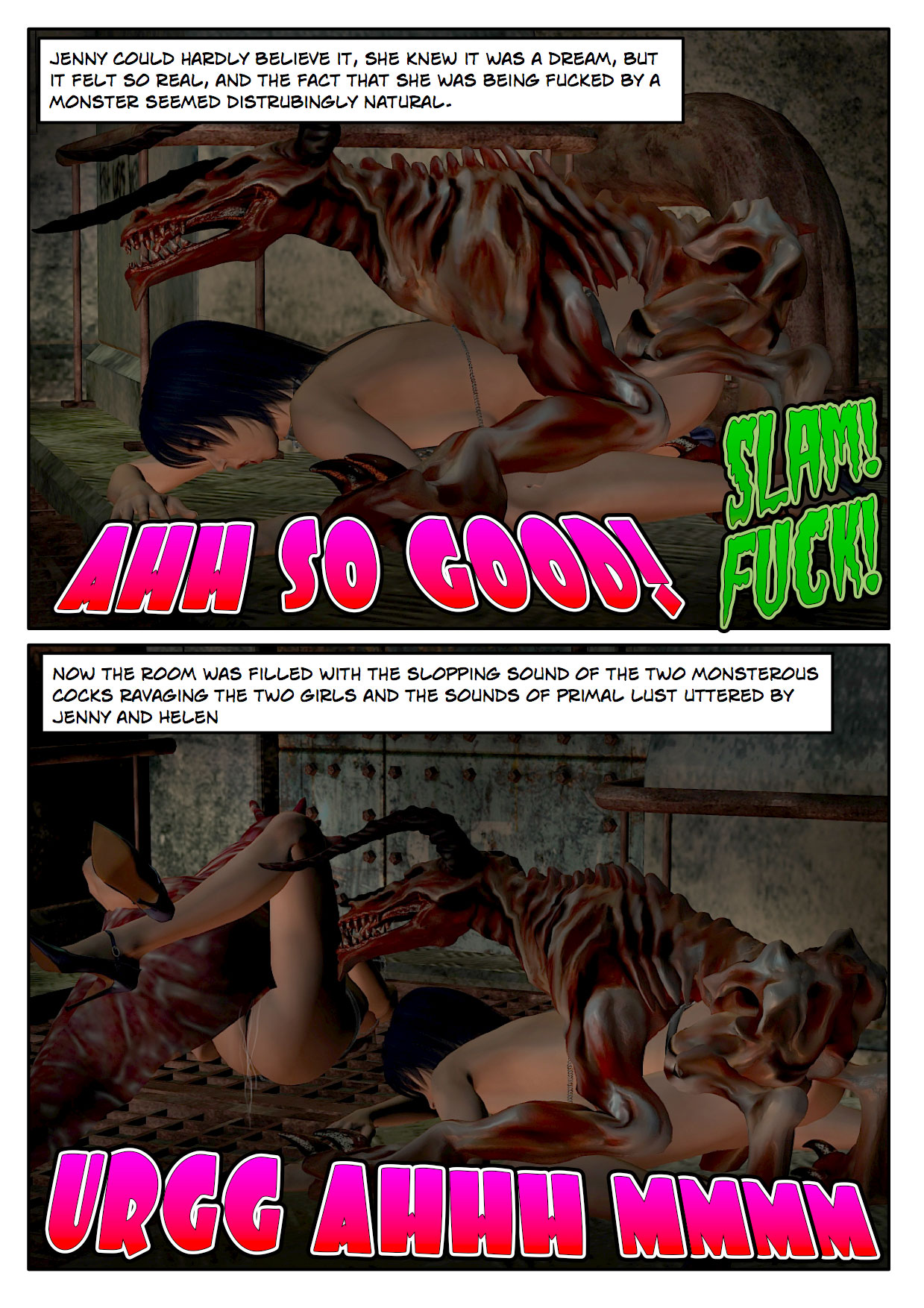 Monster fuck toon erotic scene