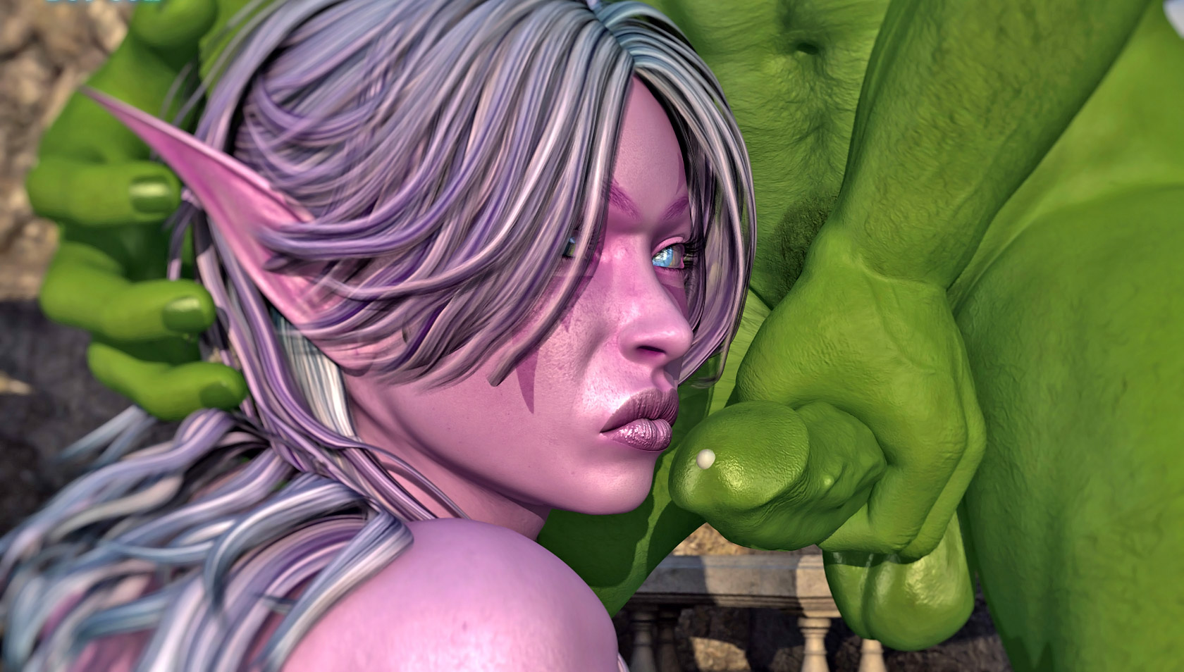 World of warcraft poen nigh elf and  erotic extreme girls