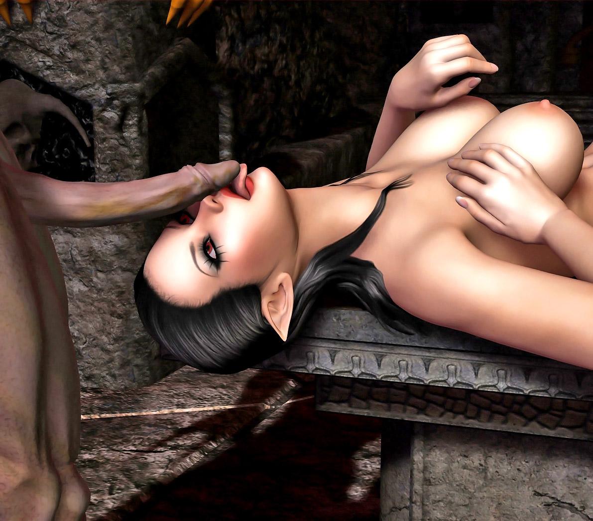 Hot elf woman sucs on cock porncraft scene