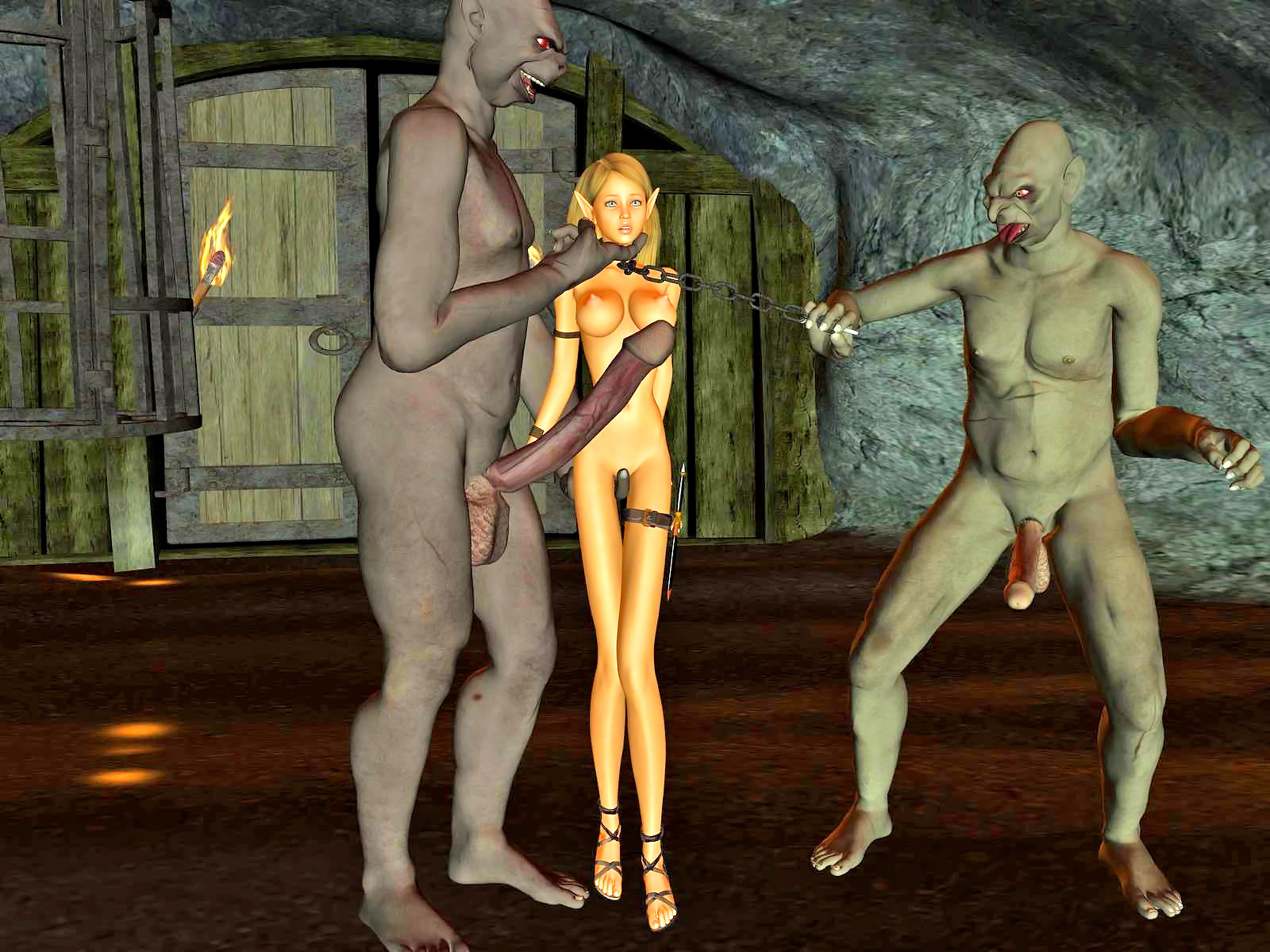 Elf princess captured abused nude images
