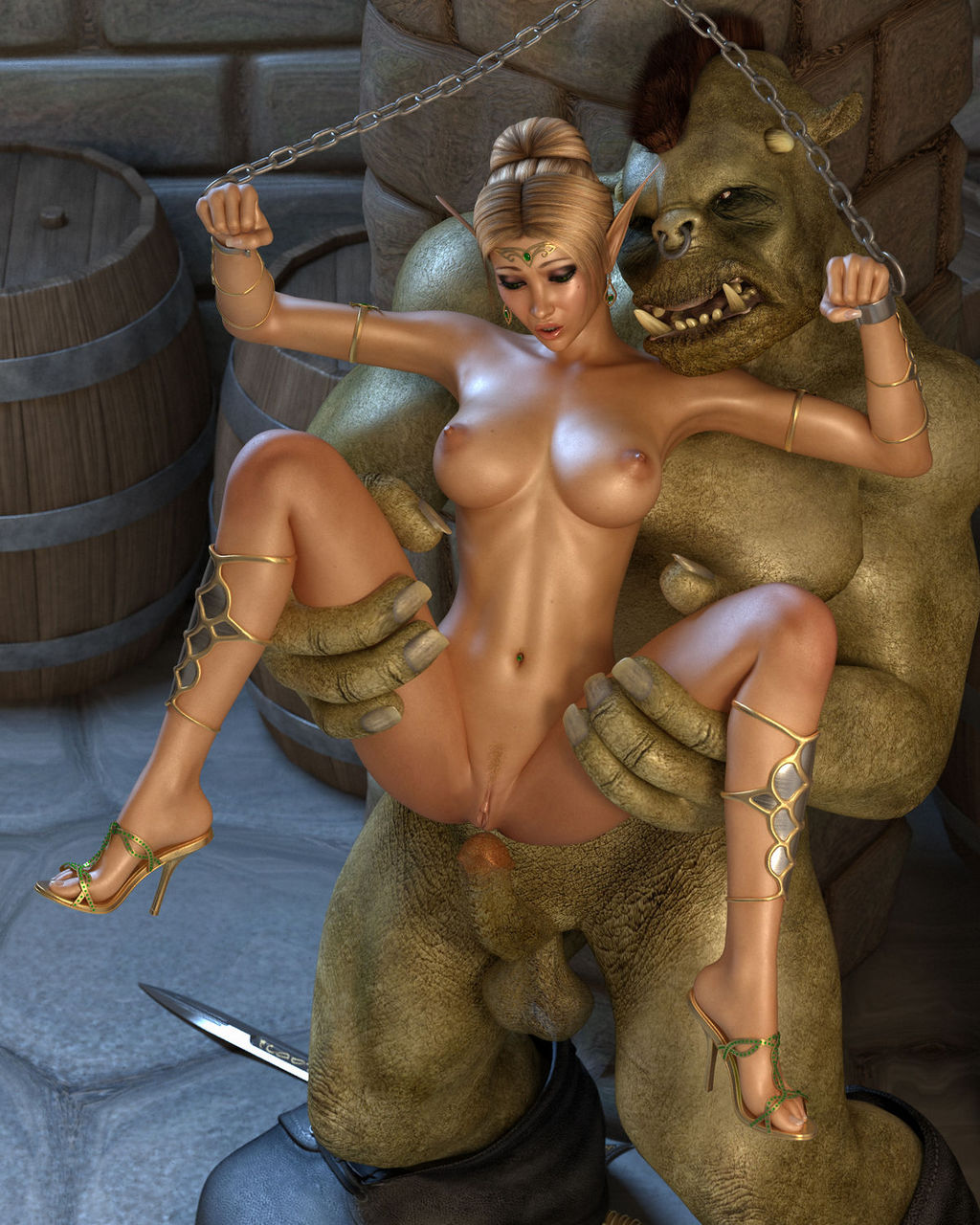 Henti big ass orc naked clips