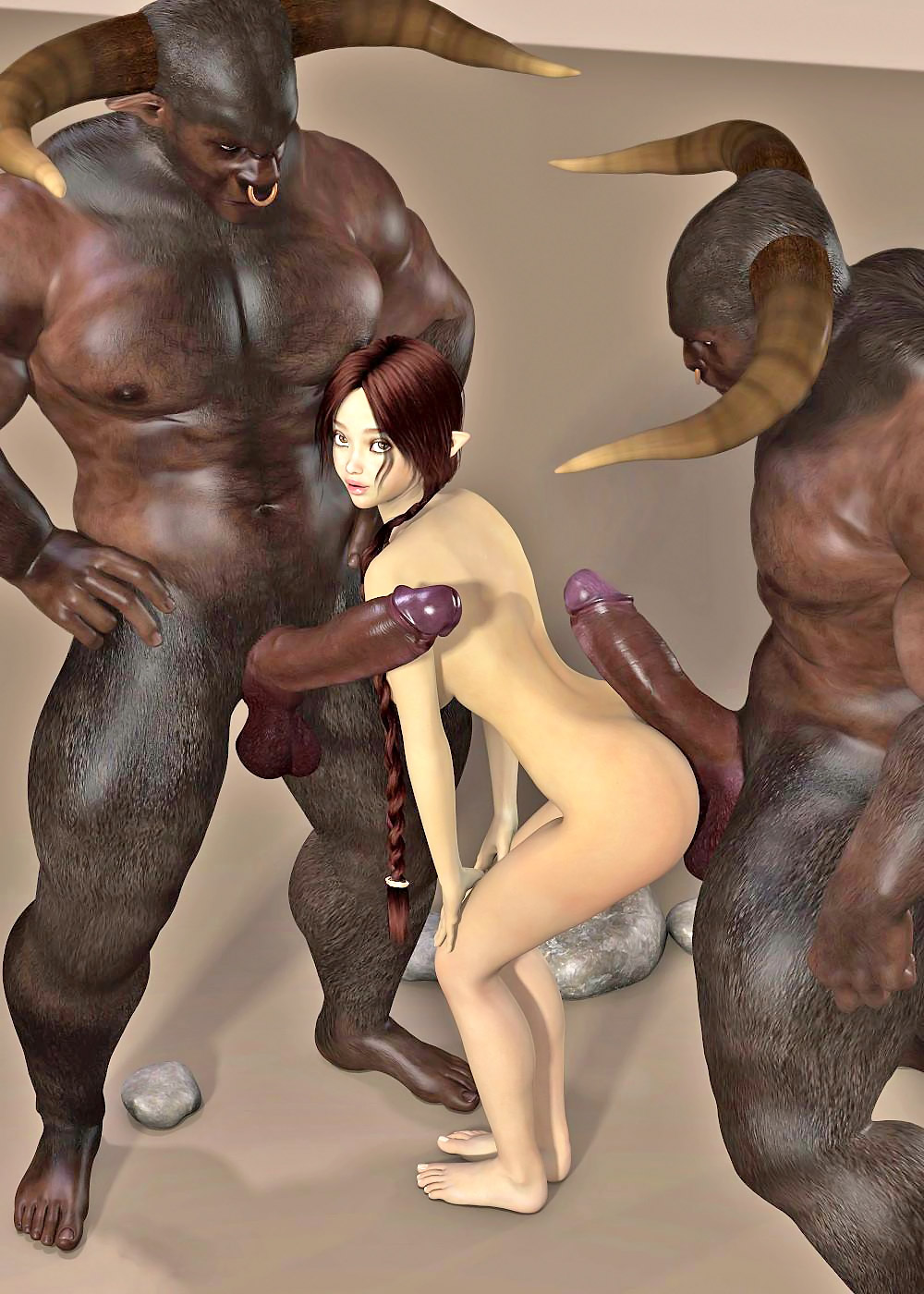 3d minotaur fucks girl cartoon pornstar