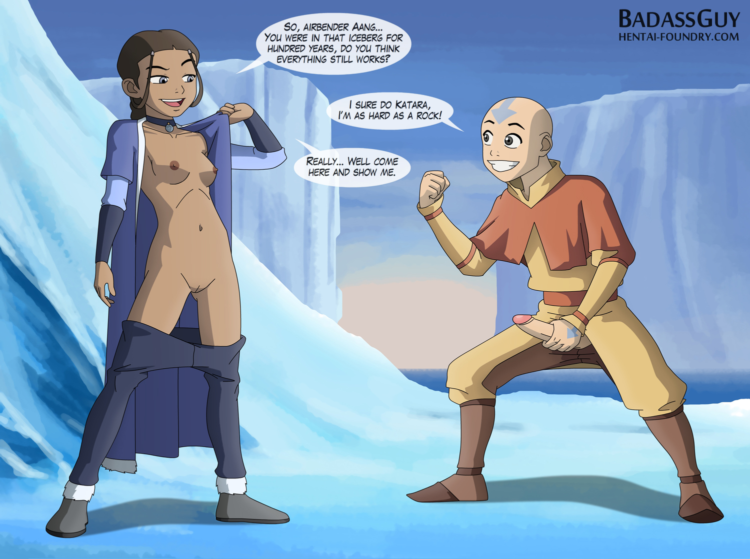 Katara Cartoon Porn Pics Hentai Cartoon Last Beach Avatar Airbender ...