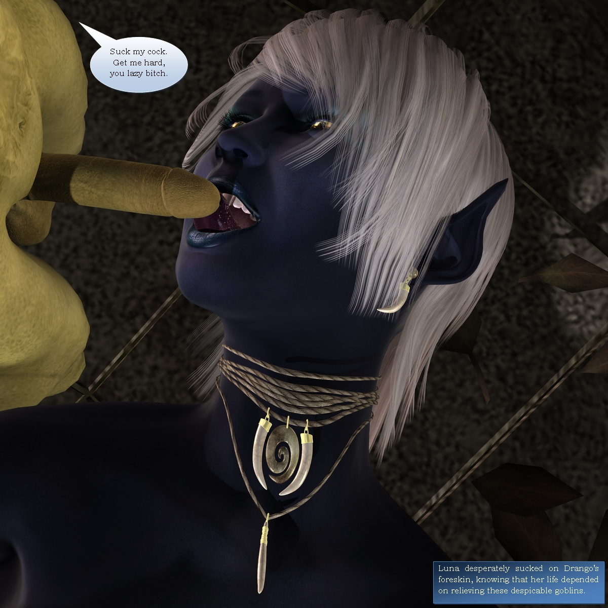 Ebony night elf abused to hardcore action  porn scenes
