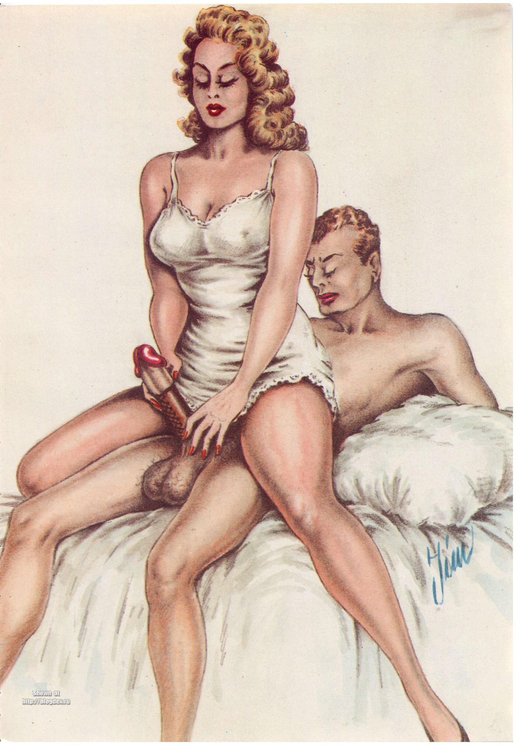 Ретро секс рисунки