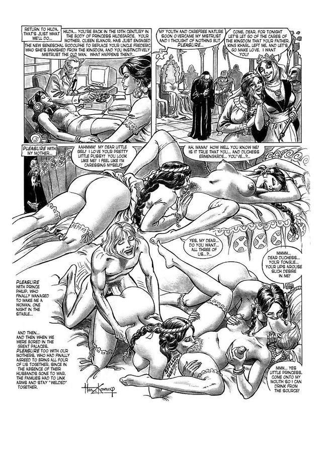 Комиксы порно хильда