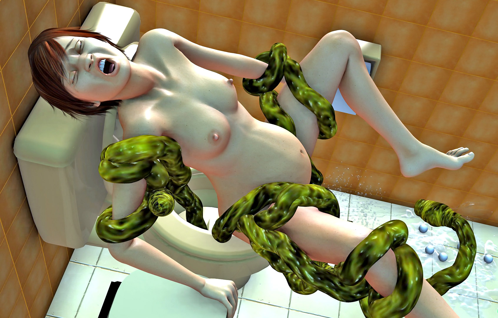 Hentai 3d monster scene in which elf  sexy clips