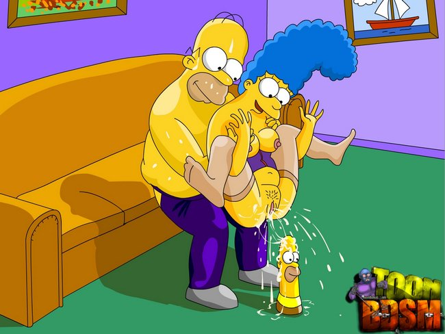 Marge simpson squirts with pussy