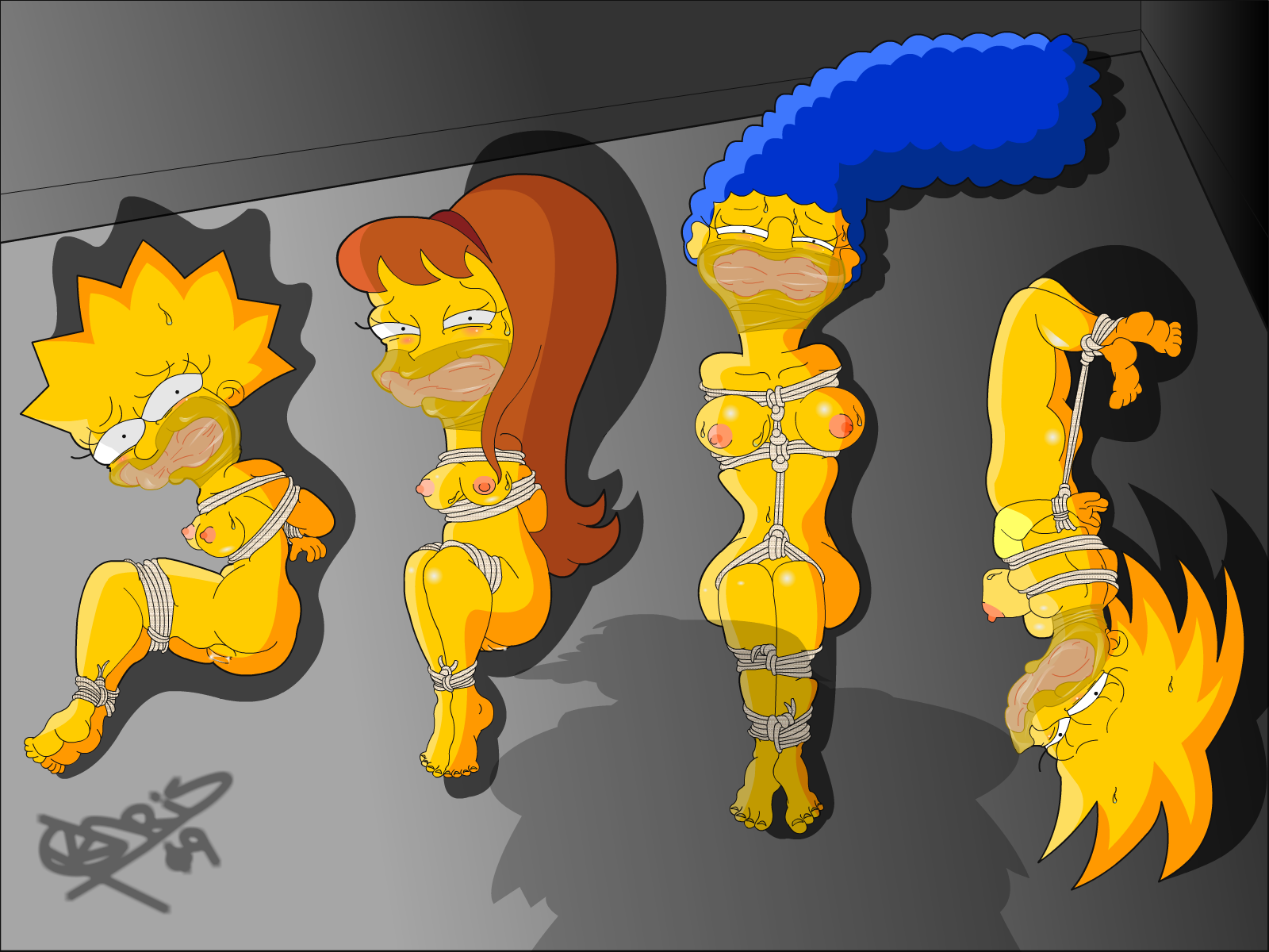 the simpsons marge porn