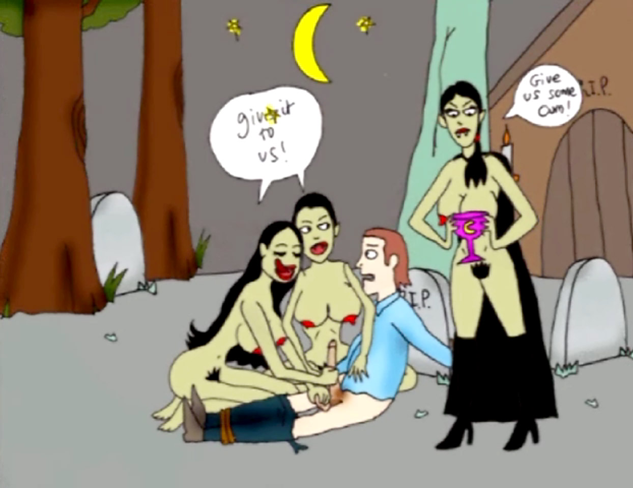 Vampire toon having sex naked tube