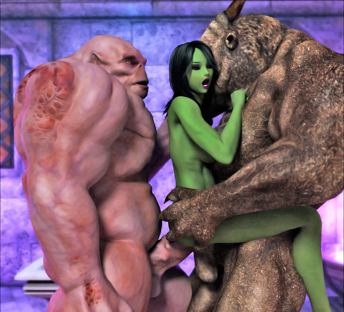 Ситуация получилась смотреть 3d порно мультфильмы монстры