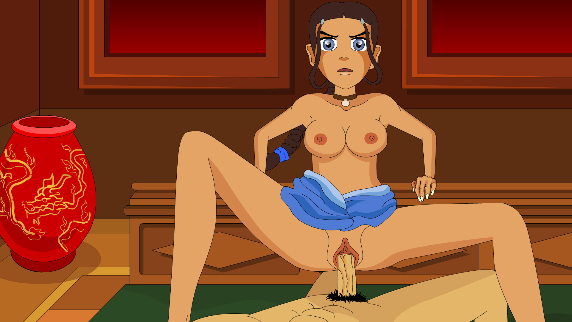 Naked lady cartoon exploited scene