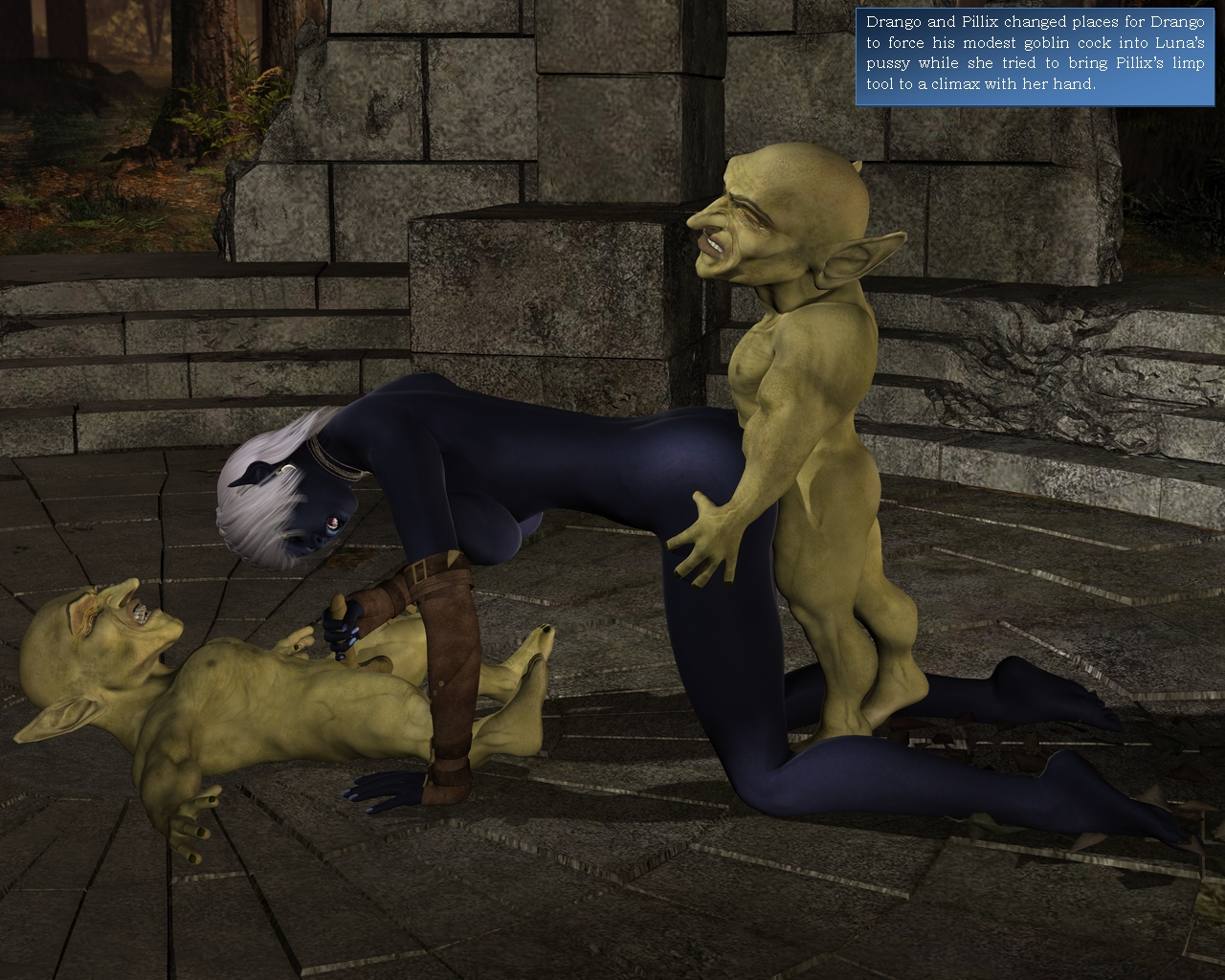 Ebony night elf abused to hardcore action  erotica gallery