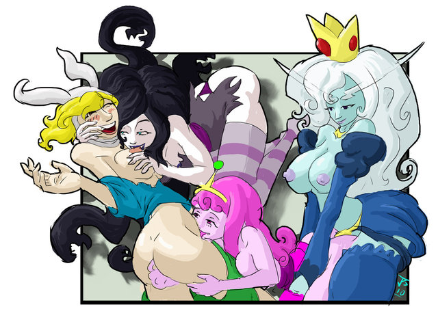 adventure time porn time girl princess queen human adventure marceline bubblegum fionna ice imric