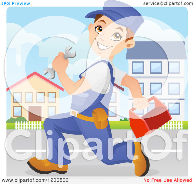 animated character porn free cartoon down box character street royalty happy running vector clipart caucasian mechanic tool worker wrench