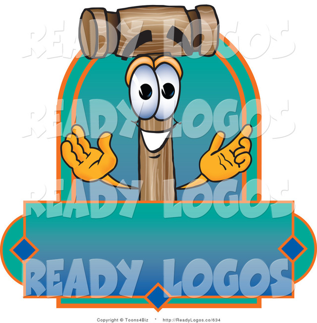 animated character porn cartoon blue toons logo character green happy biz label wooden vector mascot blank mallet smiling