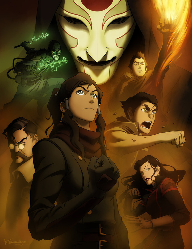 avatar cartoon porn comic comic news legend book spirit details con korra reveals panel