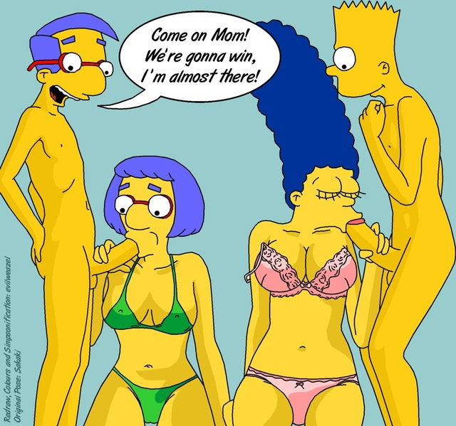 bart and marge fuck simpsons marge simpson bart game milhouse van houten evilweazel und luann