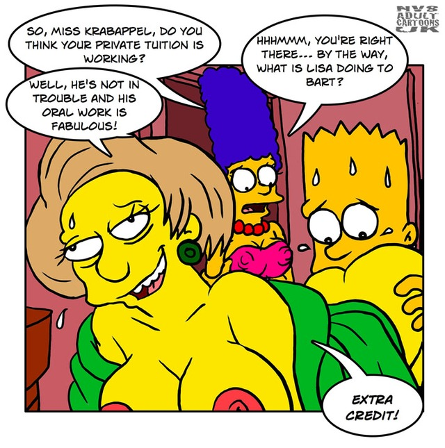 bart and marge fuck simpsons marge simpson bart rule nev fee edna krabappel