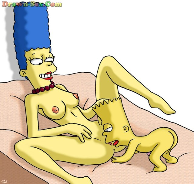 bart porn hentai porn simpsons media marge simpson homer bart gets original banged hungry