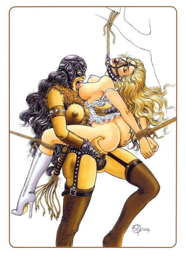 бдсм лесбиянки комиксы