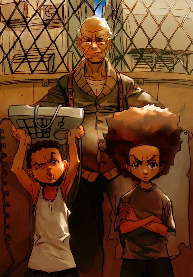 boondocks cartoon porn pics love from boondocks huey tough freeman lesean