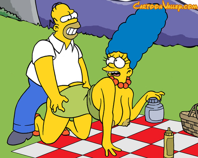 cartoon pictures of fucking marge simpson homer picnic