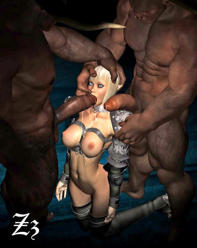 Порно мультики 3д монстры