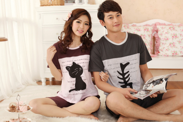 cartoons couple hot sex promotion font short underwear couple wsphoto special apparel sleeved tracksuit