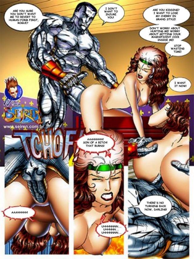 Порно комиксы x men
