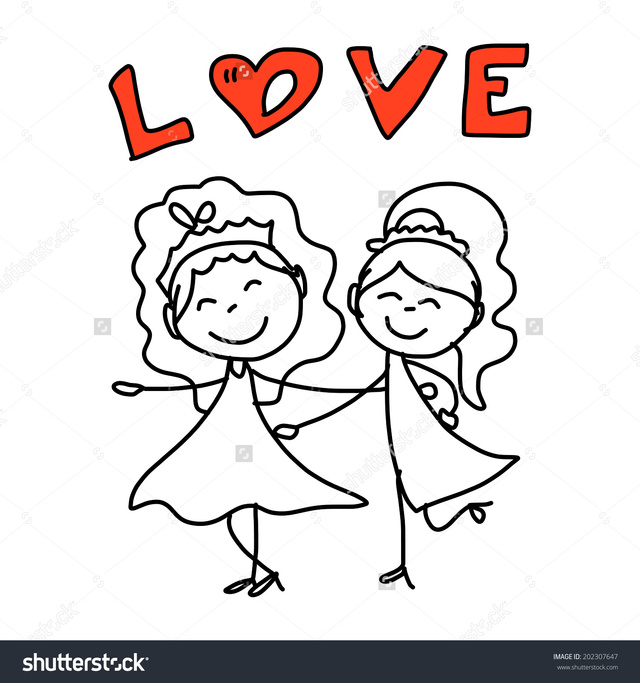 draw toons porn cartoon happy drawing couple hand vector same wedding stock concept