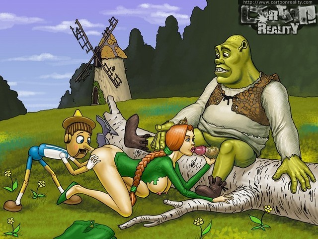 drawn toon porn picture cartoons reality hot shrek draw sized toonporn