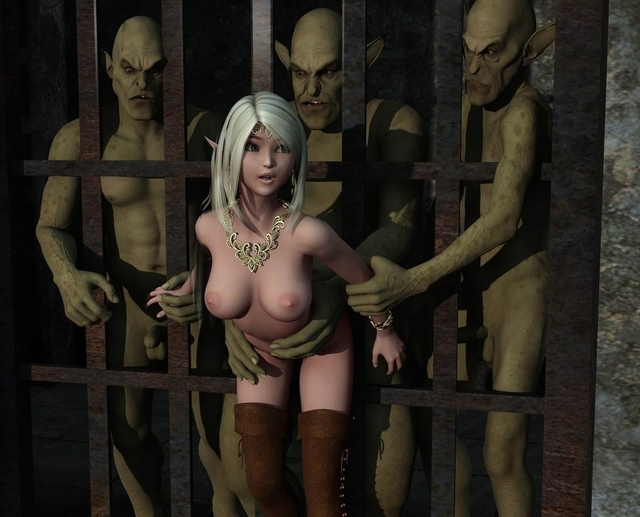 elf porn porn comics pics monster little elf blondie prison