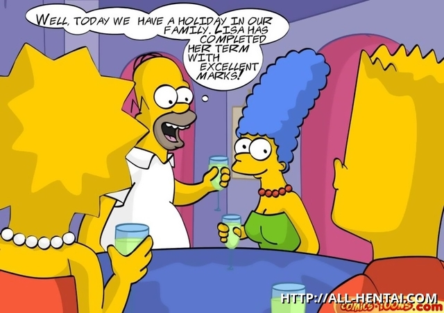 family toons xxx hentai simpsons xxx comics all family lisa toons drinks tonight drunken swining