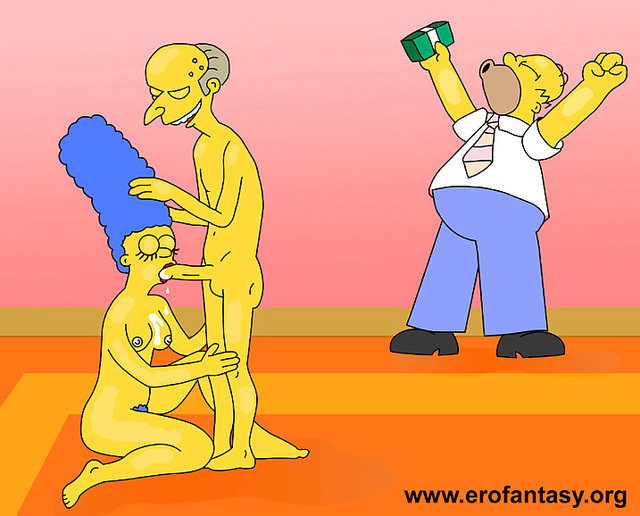 homer and marge bondage simpsons marge simpson homer montgomery burns indecent monday proposal