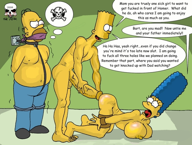 homer and marge bondage simpsons marge simpson homer bart fear