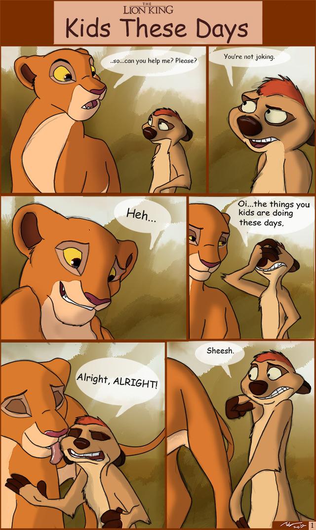 порно комиксы король лев
