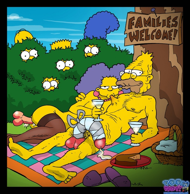 lisa simpson hentai simpsons marge simpson homer lisa bart toon party selma bouvier effb abraham