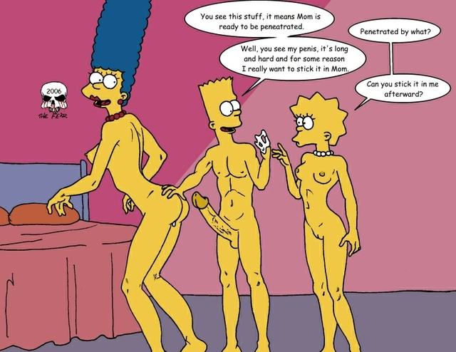 marge and bart simpson porn porn simpsons marge simpson lisa bart fear fafaa