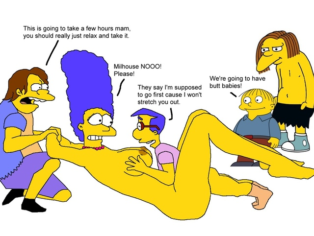 marge and lisa simpson porn simpsons marge simpson lisa cfd milhouse van houten nelson muntz dolph starbeam wiggum ralph