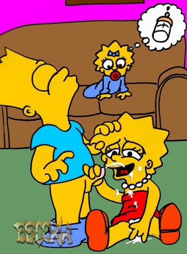 marge and lisa simpson porn hentai simpsons cartoon marge bart