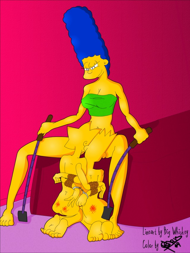 marge and lisa simpson porn simpsons marge simpson lisa bart fear