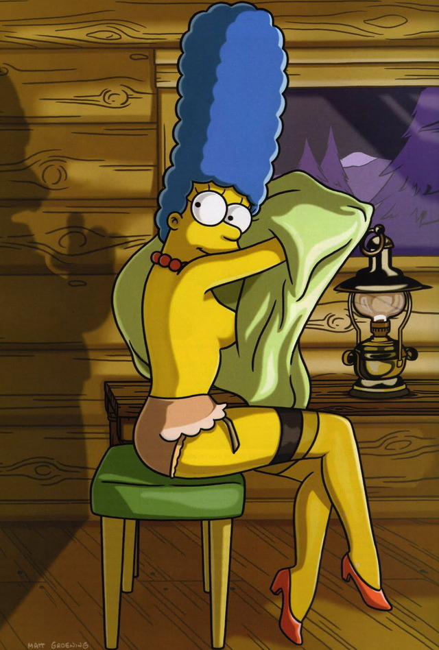marge simpson naked porn media marge character