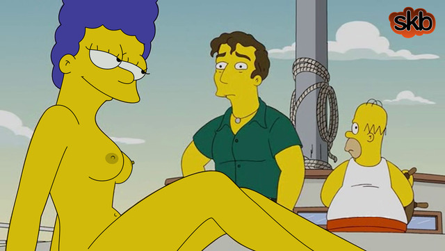 marge simpson naked marge simpson boat