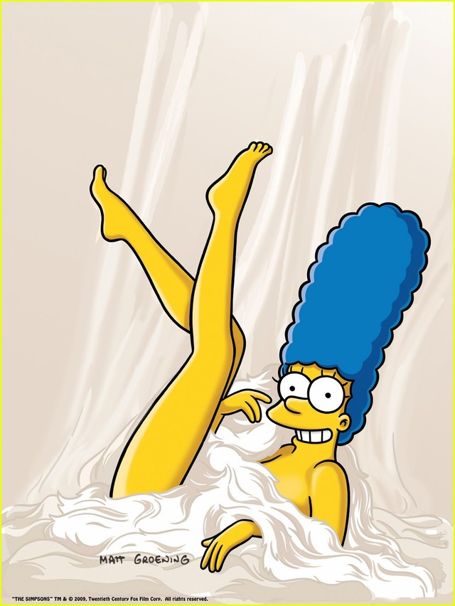 marge simpson naked marge simpson nude playboy poses photography